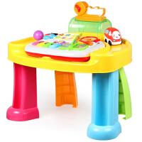 智慧乐园学习桌奥贝婴幼儿童宝宝游戏桌多功能早教玩具台