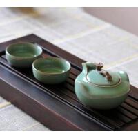 龙泉青瓷功夫茶具套装 陶瓷茶侧手抓如意茶壶 梅子青