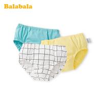 巴拉巴拉儿童内裤男童三角短裤底裤小童小孩三角裤纯棉男孩三条装