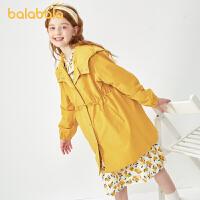 【3件4折:99.6】巴拉巴拉女童外套2020秋季新款�和��p薄派克�L衣中大童中�L款上衣