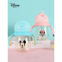 迪士尼儿童学饮杯婴儿防漏防呛奶瓶大宝宝水杯可爱ppsu吸管杯子