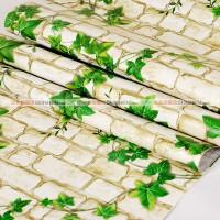 三合牌 pvc自粘墙纸 墙贴膜壁纸 家具贴 绿叶蔓藤 10米 SH6693