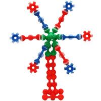太阳花积木 塑料软体拼插玩具 3岁以上儿童玩具 120粒彩桶装