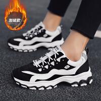 时尚新款男鞋子韩版低帮男士休闲鞋潮流ins老爹鞋熊猫运动鞋