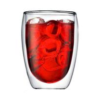350ml双层玻璃杯隔热透明蛋形茶杯创意水杯耐热咖啡杯果汁饮料杯子水杯牛奶果汁创意隔热咖啡