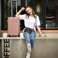 【支持礼品卡】USO复古铝框拉杆箱万向轮英伦风欧美旅行箱8178-24寸免费托运行李箱赠送箱套+贴纸