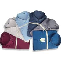 伯克龙 男士免烫棉质商务短袖衬衫 男式纯色正装职业衬衣 男款结婚礼服衬衫 L016