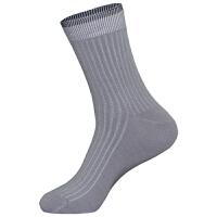 梦邦男士袜子棉质中高筒四季商务透气吸汗棉袜中厚黑色灰色秋冬袜