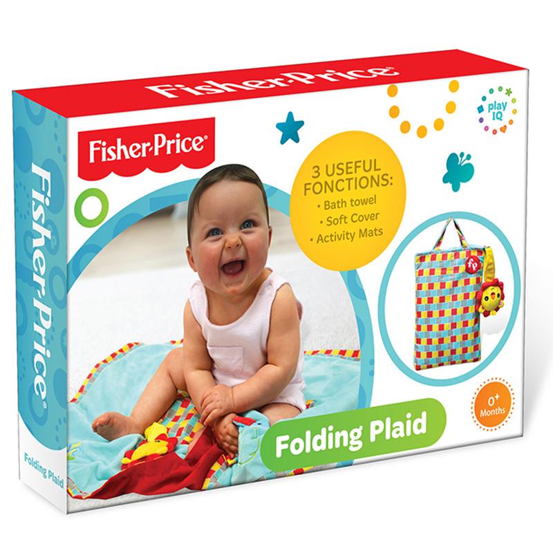 FisherPrice费雪正多功能折叠毯收纳毯婴幼儿爬行毯宝宝小地毯 80cm*60cm