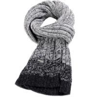 秋冬季男士保暖长款围脖针织毛线围巾