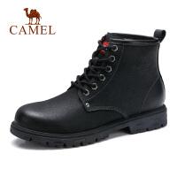 camel骆驼男鞋 秋季新款硬朗时尚高帮工装靴牛皮潮流户外马丁靴
