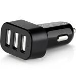高欣车载充电器E3手机通用5.7A一拖三USB点烟器转接头镀金汽车充