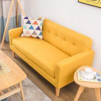 20190403012628344北欧懒人沙发单双人布艺小户型迷你阳台卧室现代简约经济型小沙发 亮黄色 H-17 18