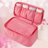 旅行防水收纳袋 内衣收纳包文胸内裤整理袋 旅游衣物衣服内裤盒包 粉红色 衣物收纳包