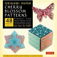 【预订】Origami Paper - Cherry Blossom Patterns - Small - 6 3/4