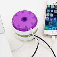 日系KM  鼠标线绕线器USB数据线充电器线理线器电线收纳集线器