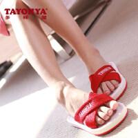 TAYOHYA/多样屋时尚拖 男女情侣居家室内十字拖鞋