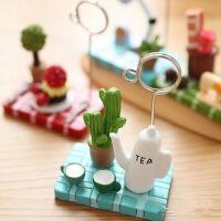 创意茶壶台灯缝纫机树脂工艺摆件多肉微景观便签夹 留言夹相片夹名片夹办公室桌面装饰摆设植物小摆件 图片 图片色