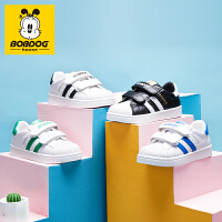 巴布豆童鞋2021年新款春季小白鞋男女童运动鞋子韩版百搭儿童板鞋