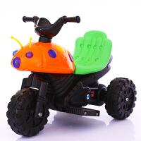 儿童电动车摩托车电动三轮车小孩宝宝可坐玩具车男女甲壳虫电瓶车
