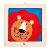 Hape刺绣布贴画-狮子儿童创意早教布贴画E5103