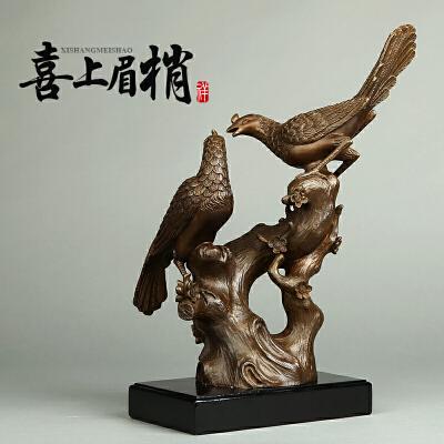 纯铜工艺品家居装饰品风水摆件 喜上眉梢喜鹊乔迁结婚礼物