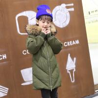 2017新款儿童羽绒服女童中长款中大童装韩版季小女孩加厚外套