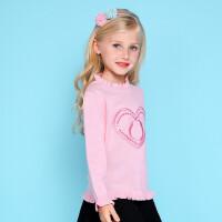 加菲猫女童提花针织衫儿童春装新款打底衫GGM17326