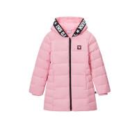 361度童装 女童中长款加绒保暖2021冬季加厚长款外套 K61843952