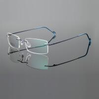精致无框眼镜架 男女款带铰链超轻舒适钢丝眼镜框 无边框镜架