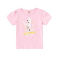 【2件5.5折到手价:54】小猪班纳女童短袖t恤夏季圆领儿童洋气上衣