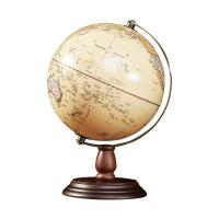 32cm仿古立体浮雕地球仪复古高清 书房办公室装饰摆件