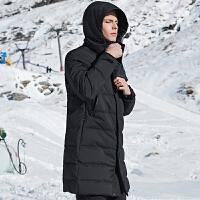 七匹狼外套男羽绒服男士2019秋冬季款连帽运动保暖中长款加厚男装