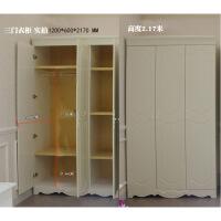 烤漆衣柜韩式田园两门简约现代双门0.8米推拉门开门衣橱 2门组装