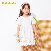 【3件4折价:83.96】巴拉巴拉童装小童宝宝裙子夏季2020新款女童连衣裙儿童纯棉短袖裙