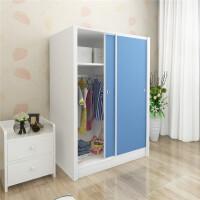 衣柜彩色 木质移门宝宝衣柜 现代简约 可定制家具推拉门衣柜 2门
