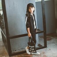 女童运动套装2018新款春装韩版时髦洋气童装春秋儿童卫衣两件套潮