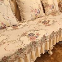 欧式沙发垫布艺奢华防滑四季通用美式高档真皮沙发套罩巾坐垫