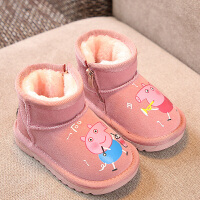 2018冬季新款女童靴子韩版软底儿童雪地靴可爱宝宝百搭加绒小短靴 33 内长19cm
