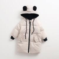 韩版新款童装儿童羽绒服轻薄款男童女童装外套宝宝羽绒服中长款