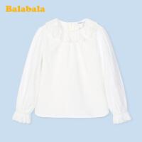 【2.26超品 3折价:47.7】巴拉巴拉童装儿童衬衫2020新款春装中大童女童衬衫长袖洋气白衬衫