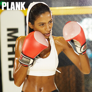比瘦 PLANK 连帽时尚无钢圈运动文胸 可拆卸胸垫 运动跑步瑜伽背心式文胸 PK008