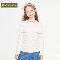 巴拉巴拉儿童上衣女童打底衫秋装2019新款中大童t恤甜美纯棉可爱