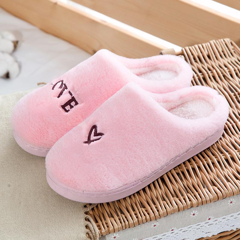 棉拖鞋女冬季天可爱毛绒室内情侣包跟家用月子拖鞋男家居日用生活日用保暖防护