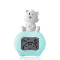 小熊电子家用温湿度计宝宝室内温度表家居日用生活日用浴室用品可爱测温 白色