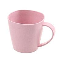 小麦秆简约水杯茶杯 创意学生牛奶杯大容量杯子加厚情侣杯咖啡杯 401-500ml