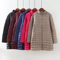 冬季新款立领羽绒服女中长款轻薄大码韩版修身保暖轻便外套潮