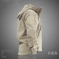 户外冲锋衣软壳单层秋冬男战术防水外套透气保暖登山运动夹克