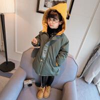 童装2017韩版新款女童装棉袄儿童加厚羽绒宝宝秋棉衣外套 绿色