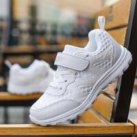 儿童白鞋网鞋夏季透气女童鞋小白鞋白球鞋网面鞋子男童白色运动鞋